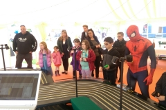 spiderman giant scalextric track hire